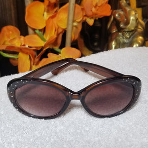 VTG 90s Fossil Oversized Bedazzled  Sunglasses